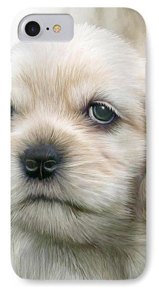 Cocker Pup Portrait IPhone Case