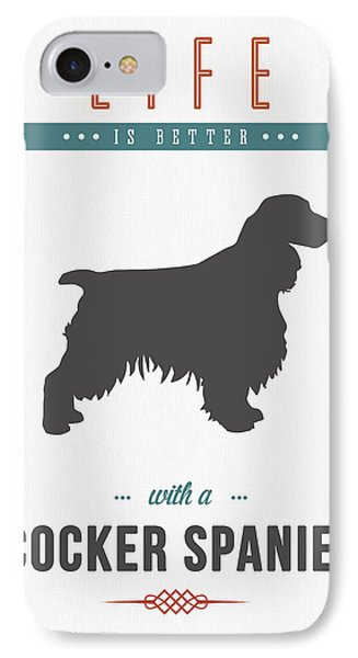 Cocker Spaniel 01 IPhone Case by Aged Pixel