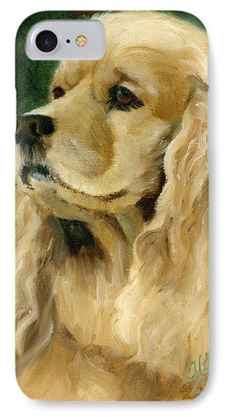 Cocker Spaniel Dog IPhone Case by Alice Leggett