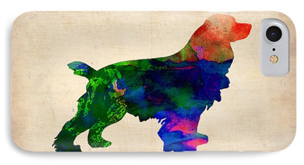 Cocker Spaniel Watercolor IPhone Case