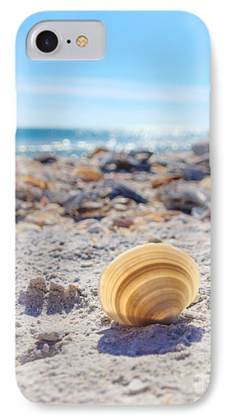 IPhone Case featuring the photograph Cockle Shell Summer At Sanibel by Peta Thames