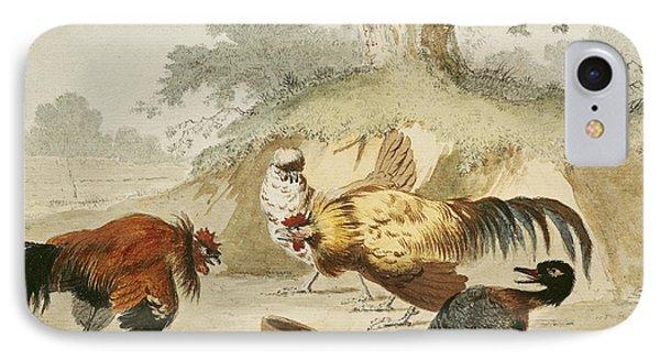 Cocks Fighting IPhone 7 Case by Melchior de Hondecoeter