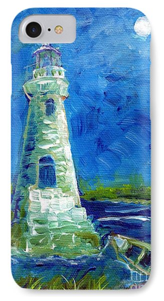 IPhone Case featuring the painting Cockspur Lighthouse Mini #7 by Doris Blessington