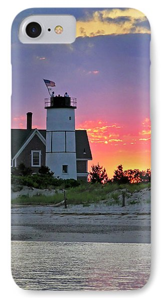 Cocktail Hour At Sandy Neck Lighthouse Phone Case by Charles Harden