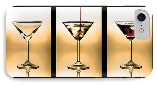 Cocktail Triptych In Gold IPhone Case by Jane Rix