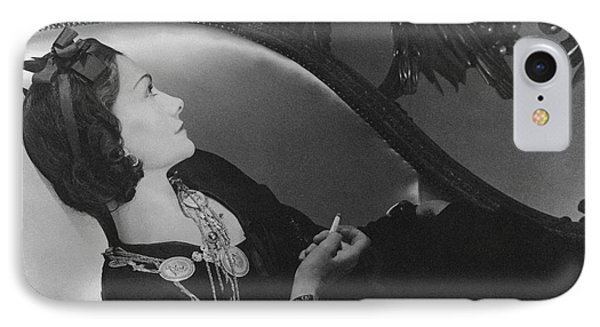Coco Chanel Smoking IPhone Case by Horst P. Horst