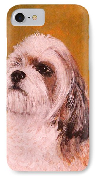 IPhone Case featuring the painting Coco-puffs by Janet Greer Sammons