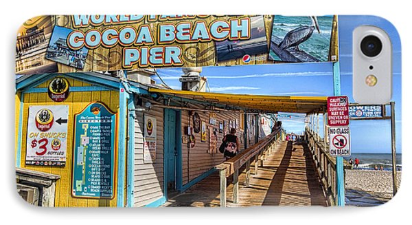 Cocoa Beach Pier In Florida IPhone Case