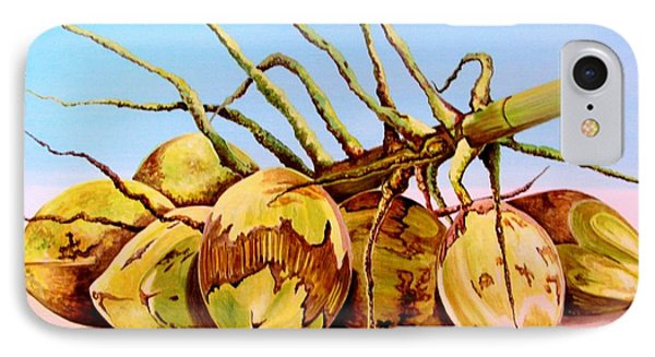 IPhone Case featuring the painting Coconut Beach by Julie  Hoyle