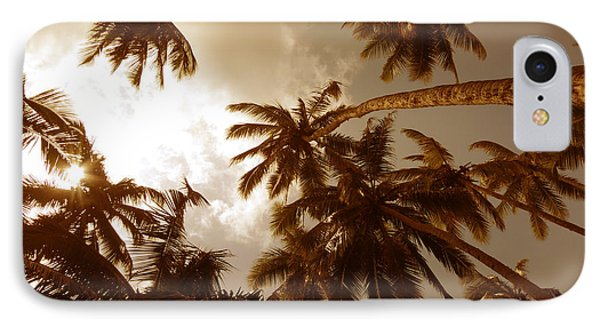 Coconut Palms IPhone Case by Mini Arora