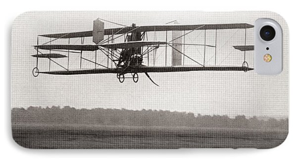 Codys Biplane In The Air In 1909 IPhone Case by American School