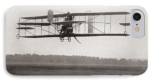 Codys Biplane In The Air In 1909 IPhone Case