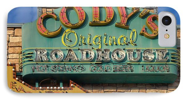 Cody's Original Road House Sign  IPhone Case by Liane Wright