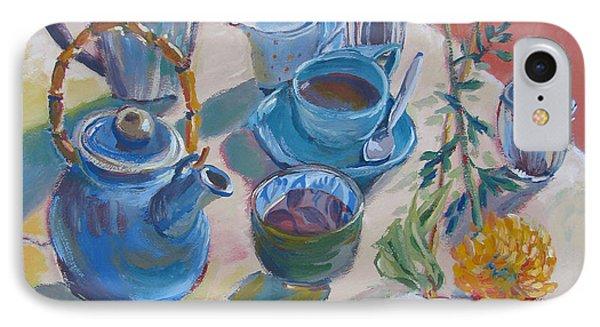 Coffee And Tea IPhone Case by Vanessa Hadady BFA MA