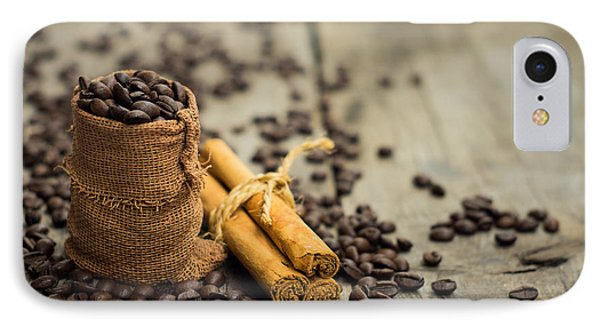 Coffee Beans And Cinnamon Stick IPhone Case