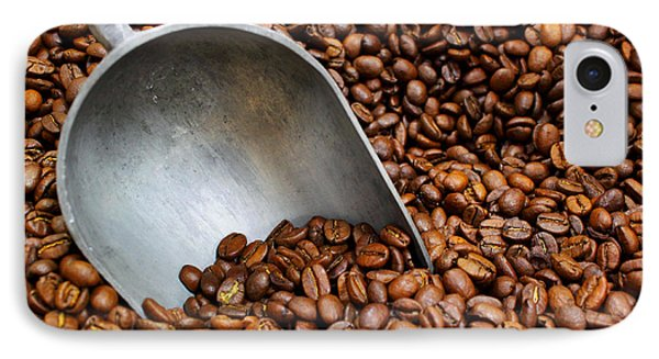 Coffee Beans With Scoop IPhone Case by Jason Politte
