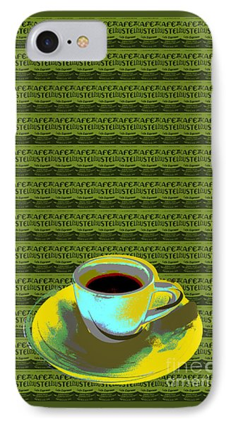 IPhone Case featuring the digital art Coffee Cup Pop Art by Jean luc Comperat