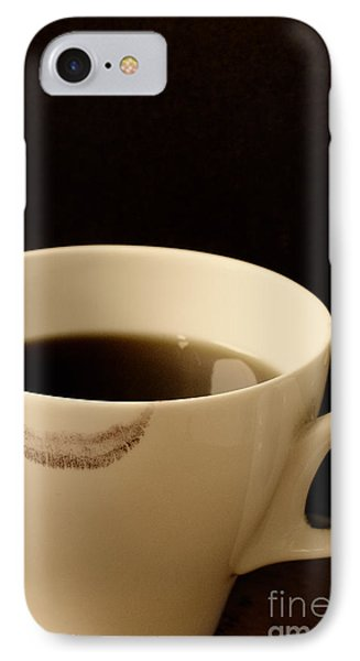 Coffee Cup With Lipstick Mark IPhone Case by Birgit Tyrrell