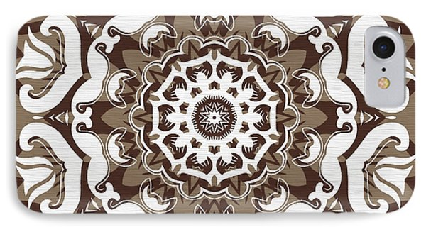 Coffee Flowers 10 Ornate Medallion Phone Case by Angelina Vick