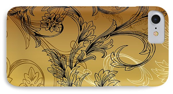 Coffee Flowers 3 Calypso IPhone Case by Angelina Vick