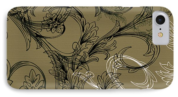 Coffee Flowers 3 Olive Phone Case by Angelina Vick