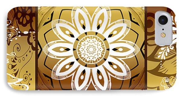 Coffee Flowers Calypso Triptych 2 Horizontal   Phone Case by Angelina Vick