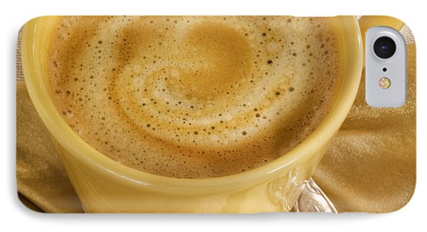 Coffee In Yellow IPhone Case