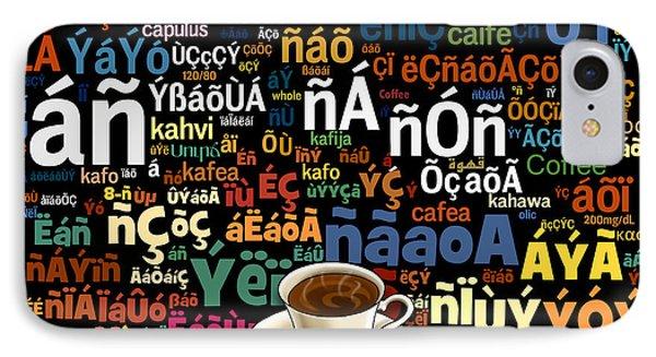 Coffee Language Phone Case by Bedros Awak