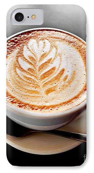 Coffee Latte With Foam Art Phone Case by Elena Elisseeva