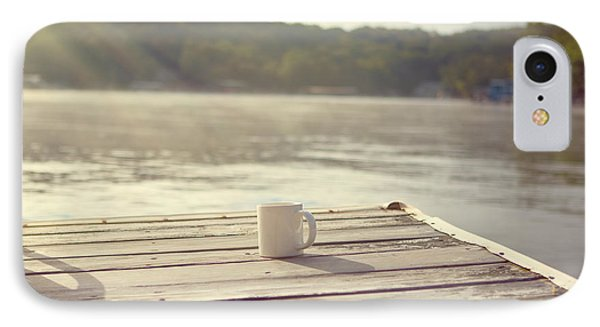 Coffee On The Dock Phone Case by Kay Pickens
