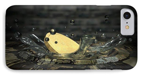 Coin Hitting Water Splash Phone Case by Allan Swart