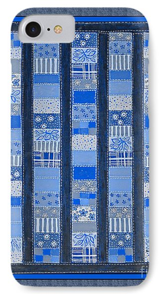 Coin Quilt -  Painting - Blue Patches IPhone Case