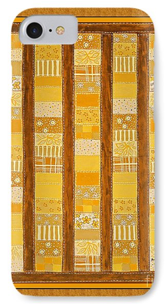 Coin Quilt -  Painting - Yellow Patches IPhone Case
