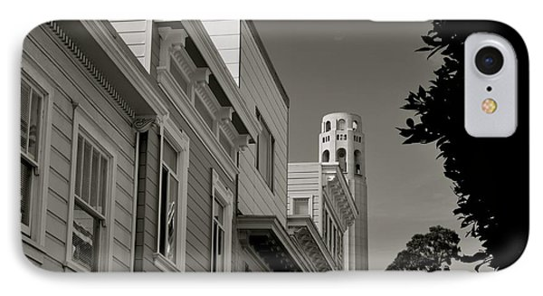 Coit Tower IPhone Case by Alex King