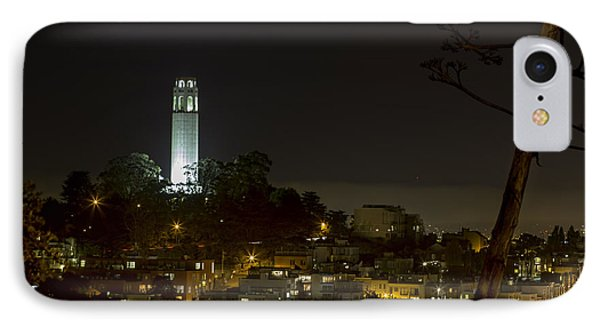 Coit Tower By Night IPhone Case