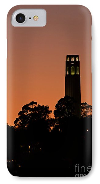 IPhone Case featuring the photograph Coit Tower Sunset by Kate Brown