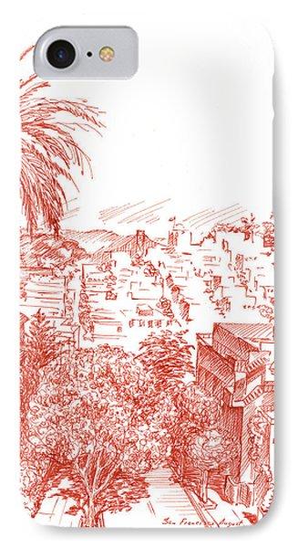 Coit Tower View From Russian Hill San Francisco IPhone Case by Irina Sztukowski