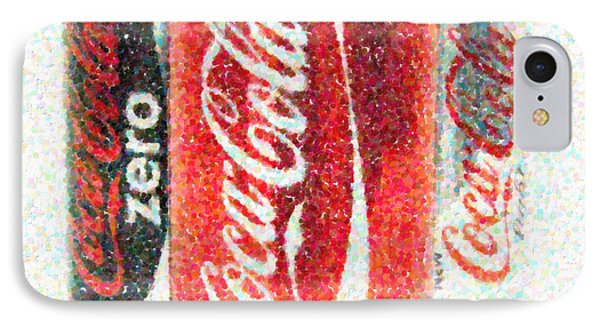 Coka Cola Pointillism Phone Case by Antony McAulay