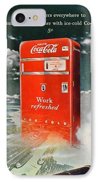 Coke - Coca Cola Vintage Advert Phone Case by Georgia Fowler