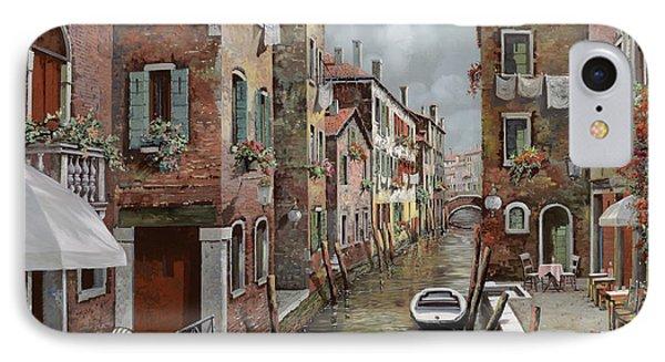 colazione a Venezia IPhone Case by Guido Borelli