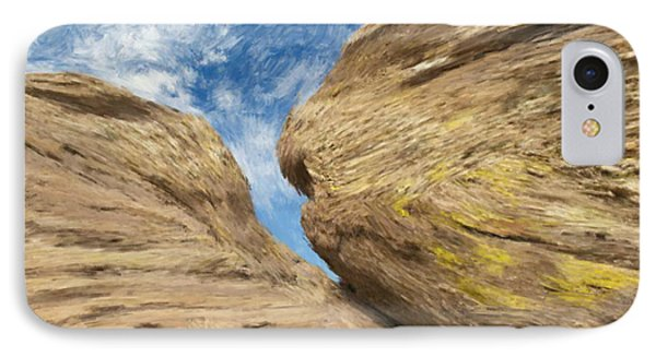 IPhone Case featuring the painting Colby's Cliff by Bruce Nutting