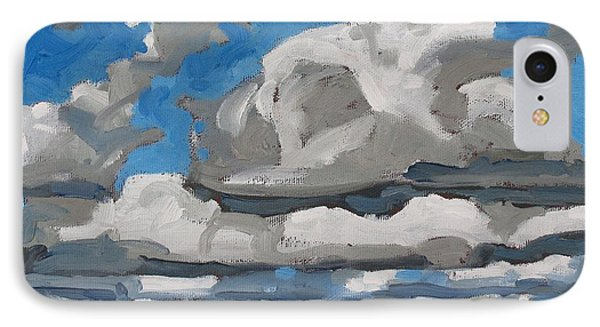Cold Air Mass Cumulus IPhone Case by Phil Chadwick