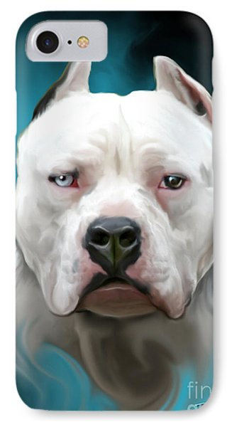 Cold As Ice- Pit Bull By Spano Phone Case by Michael Spano