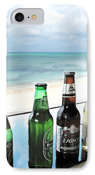 Cold Beers In Paradise Phone Case by Joan  Minchak
