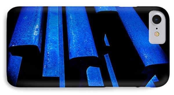 Cold Blue Steel Phone Case by Steven Milner