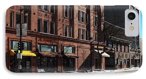 Cold Clear Morning On Old World 3rd Street In Milwaukee Wisconsin IPhone Case by David Blank