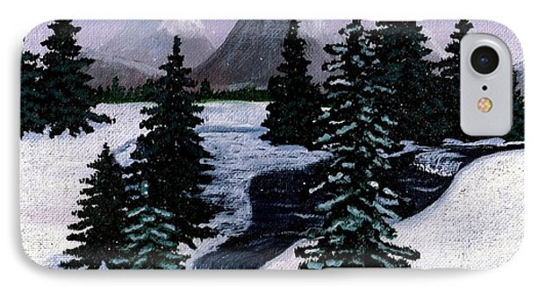 Cold Mountain Brook Painterly Phone Case by Barbara Griffin
