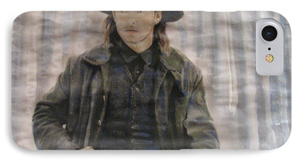 IPhone Case featuring the painting Cold Mountain by Vikram Singh
