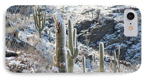Cold Saguaros IPhone Case by David S Reynolds