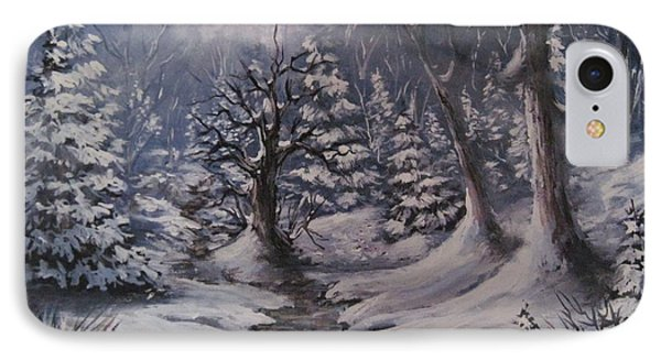 IPhone Case featuring the painting Cold Snap by Megan Walsh